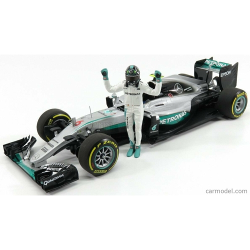 Mercedes F1 W07 Abu Dhabi GP  (N. Rosberg) *Figurával*